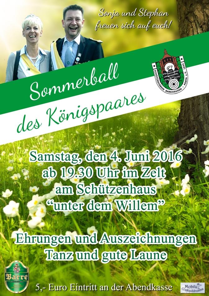 Tolles Königspaar – Tolle Feier auf dem Sommerball 2016!